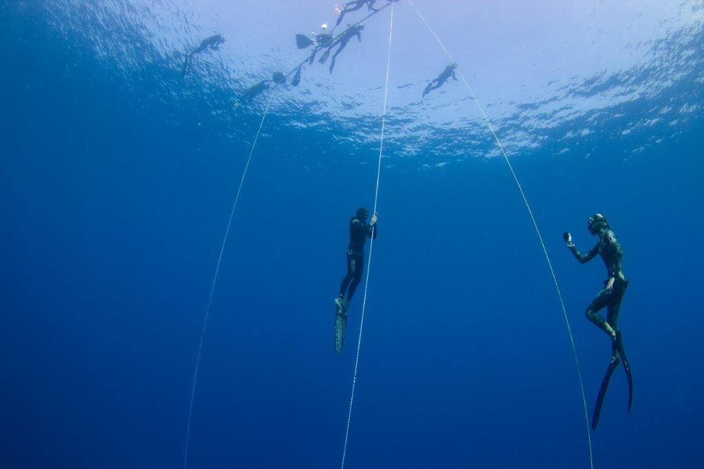 FII Freediver Training Under the Guidence of a FII Instructor