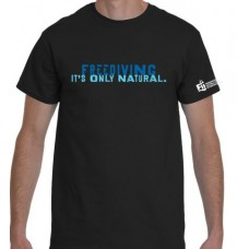 Men's 'Freediving. It's Only Natural' T-shirt - BLACK