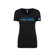 Womens 'Freediving. It's Only Natural' T-shirt - VINTAGE BLACK