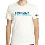 Men's 'Freediving. It's Only Natural' T-shirt - WHITE